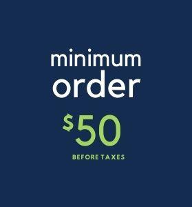 minimum order $50